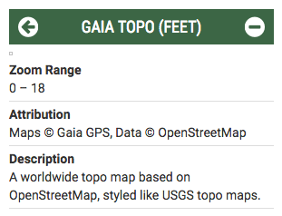 Click on any source listing to view details about the map