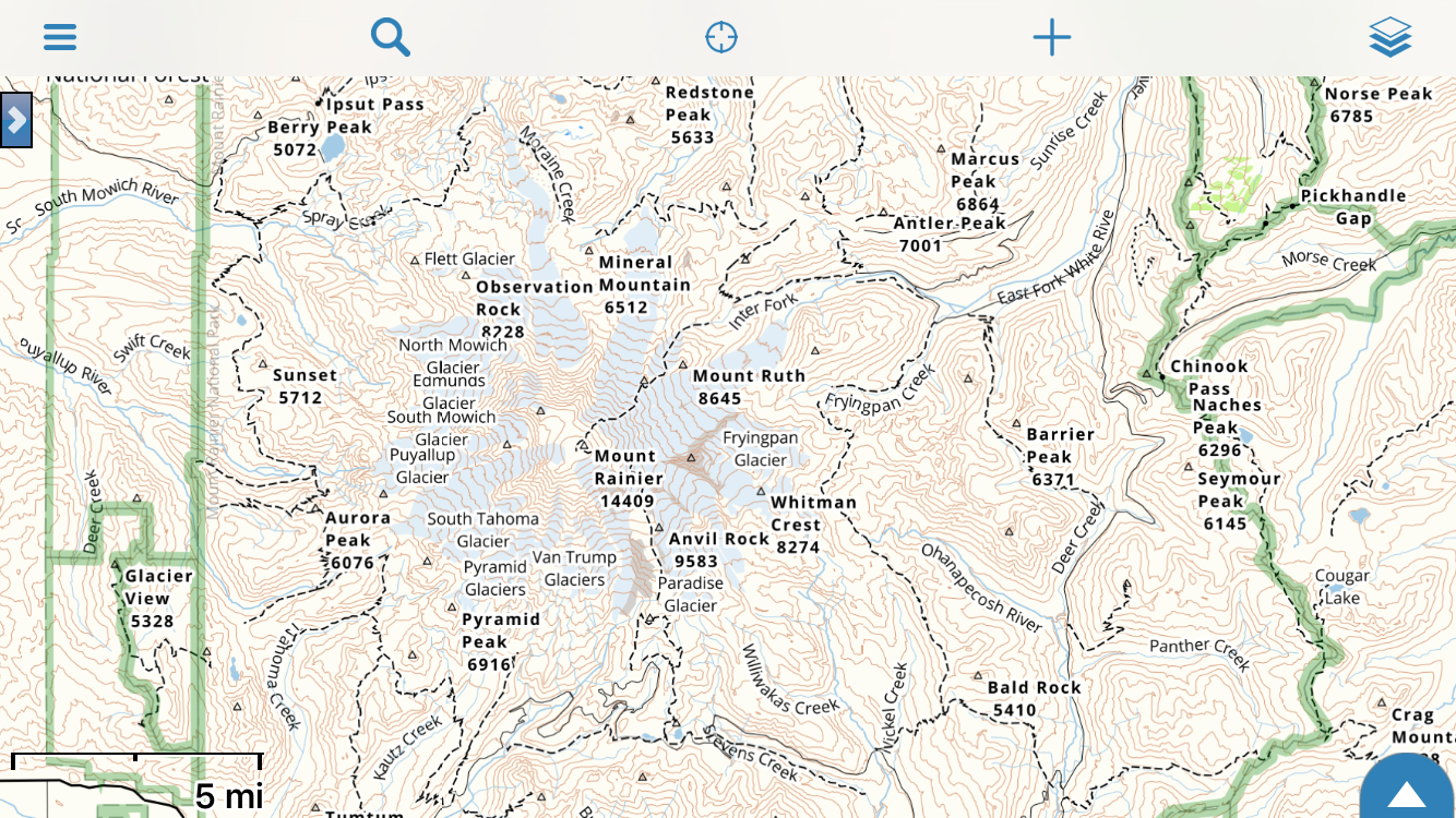 Mt Rainier Topographic Map.Gaia Topo The Map For Backpackers Gaia Gps